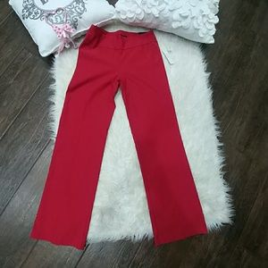 Larry Levine Red Stretch Pants
